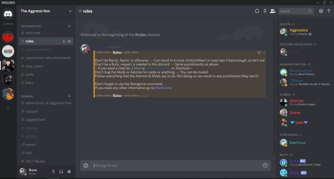 create your discord server
