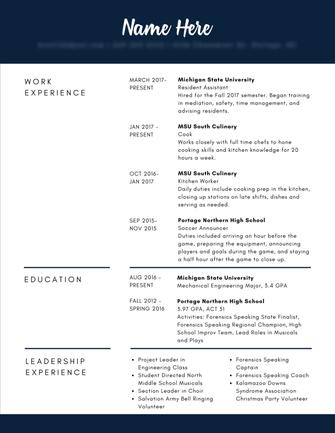 create a stylish  well designed resume by haleycate