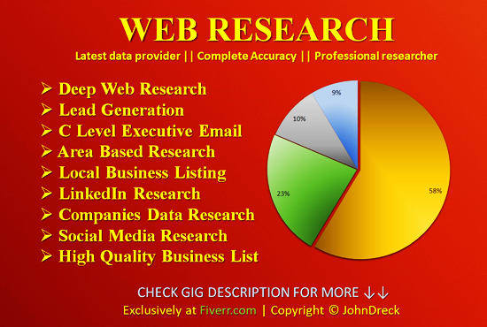 provide every type of research services