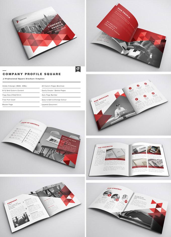 Design a professional company profile brochure and for Design consultancy company profile