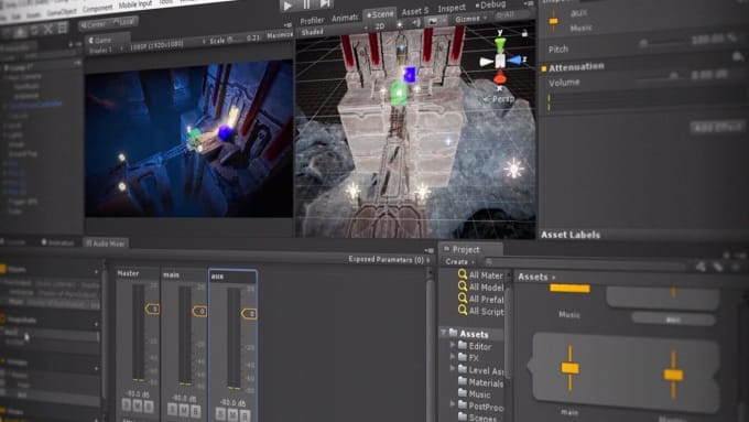 do 3d game development in unity, multiplayer, photon,playfab