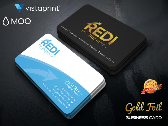 design gold foil business card for vistaprint moo print - Gold Foil Business Cards