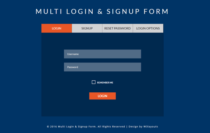 design a professional login page for you web application