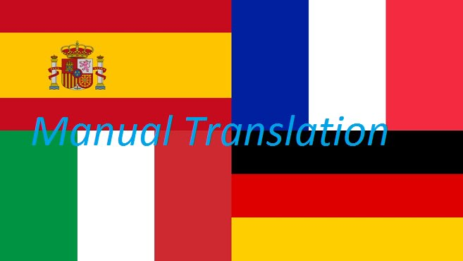 Translate From Italian To English: Translate Manually To English French German Spanish