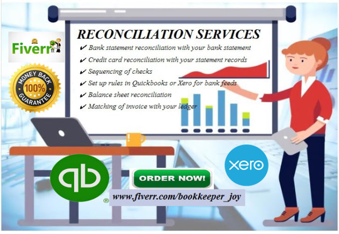 do bank reconciliation using quickbooks, xero, and excel