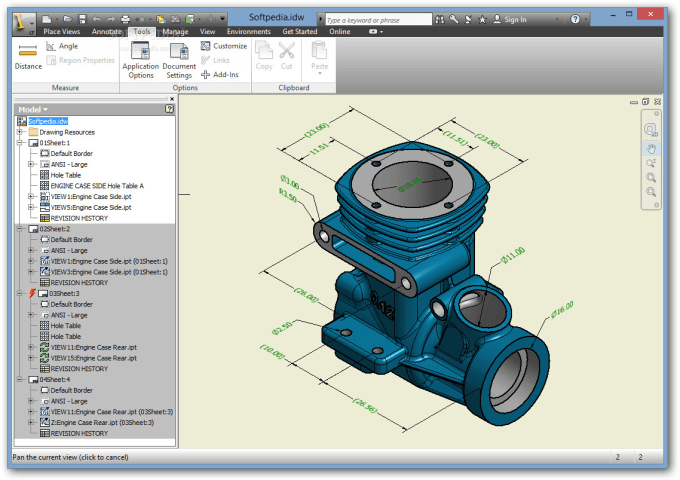 create 3d models and 2d drawings of parts