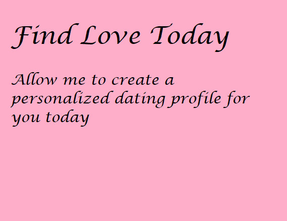 Pay someone to write your online dating profile