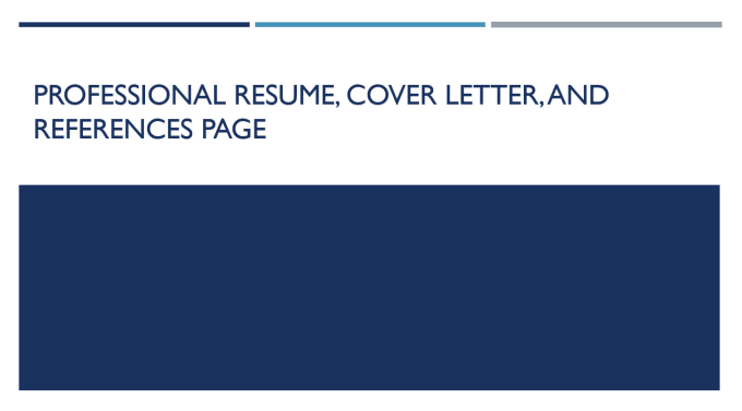Create Your Resume Cover Letter And Reference Page