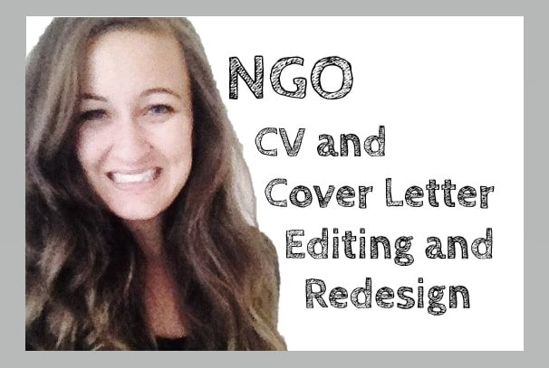 edit your ngo CV and cover letter so you get noticed