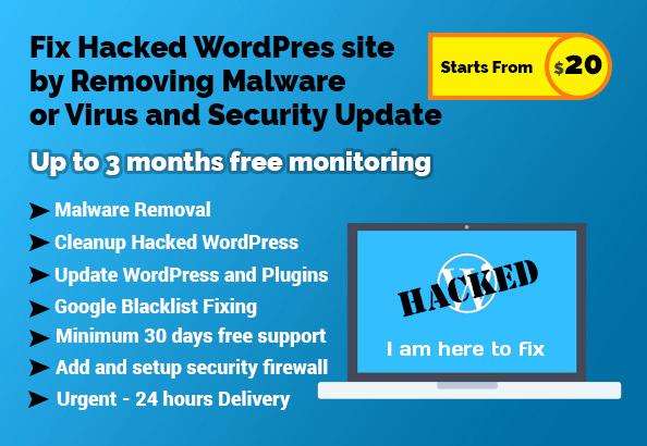 clean wordpress malware or virus and add security