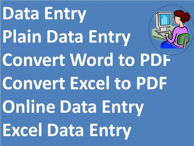 do any data entry job for 1 hours