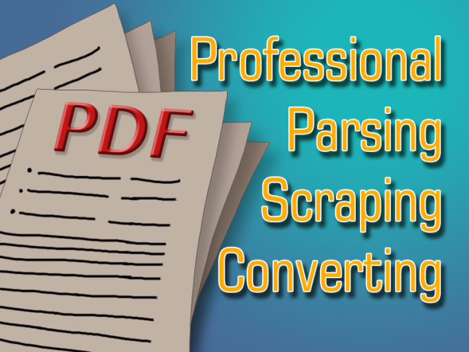 parse and convert large PDF file to csv or json xml