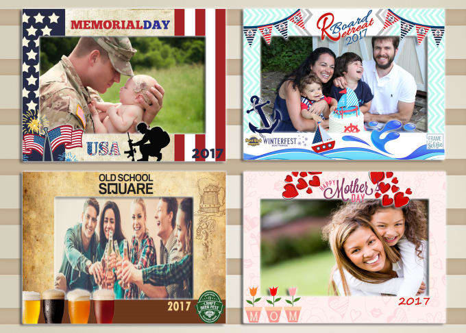 design a customized photo booth template whithin 24hrs