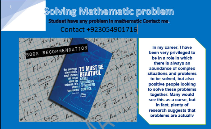 Solve mathematics problems for you by Alihamza437