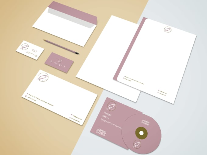design business card and stationary item