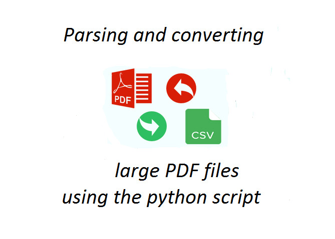 write a python parser and convert PDF into csv xml json html