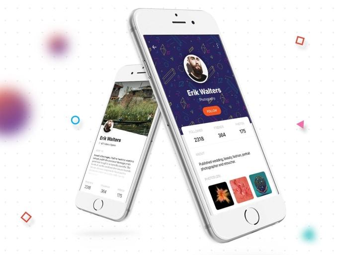 design any mobile app ui, web app ui and mockup