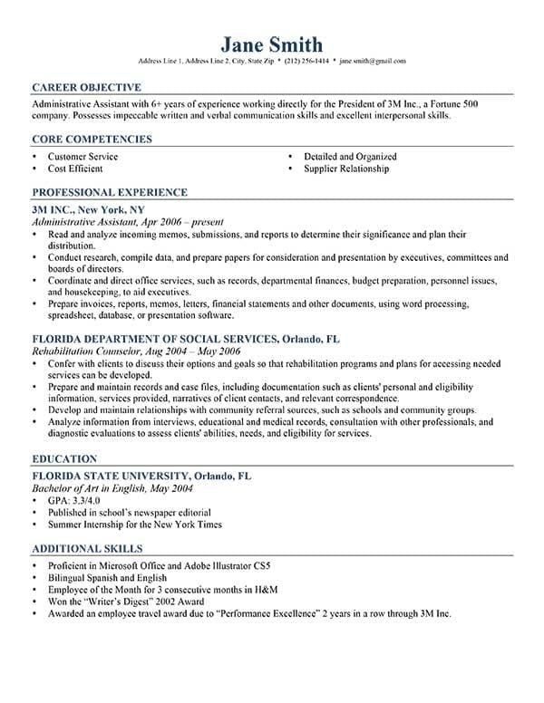 resume writing services orlando