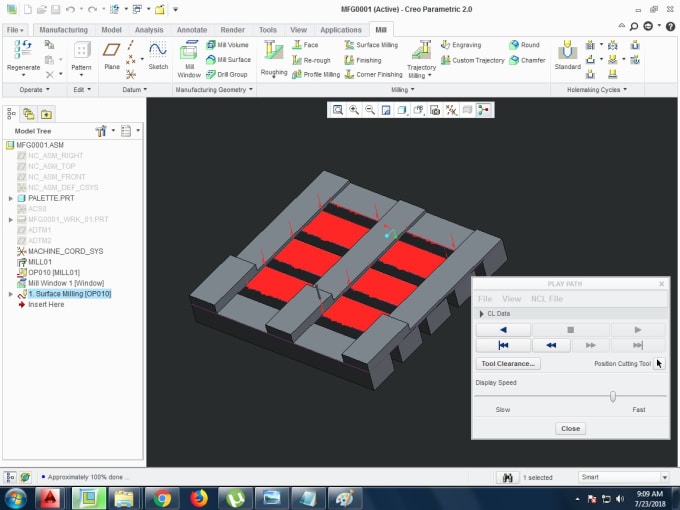 mirzazakibaig : I will do cnc programming for cnc milling machines using  creo for $5 on www fiverr com