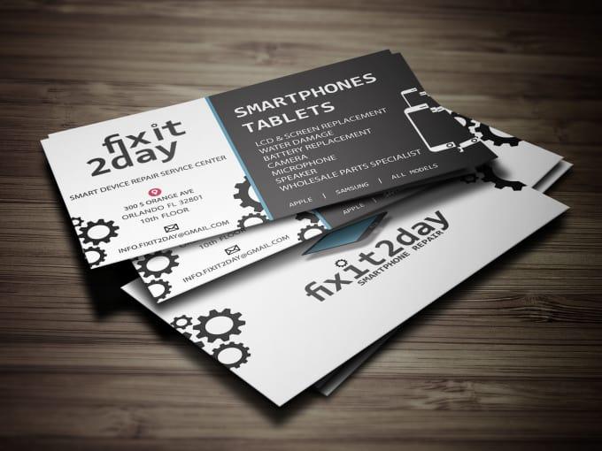 Design Modern Minimalist Business Cards 24 Hours By Maudesigns