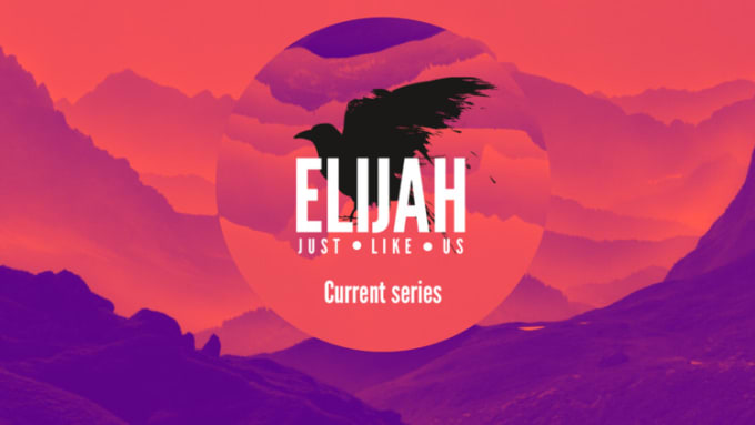 design a church sermon series or event graphic