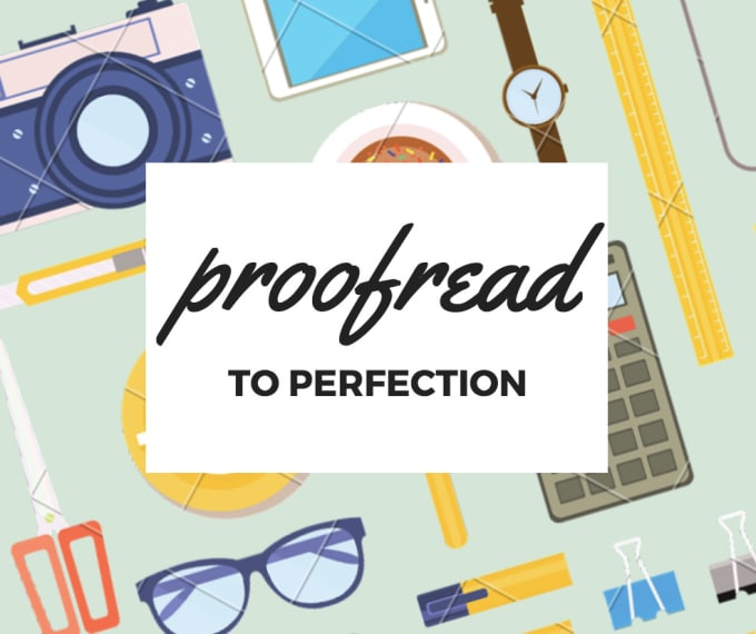 how to proofread your work