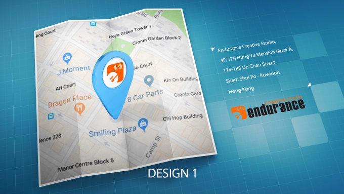 create 3d address map video