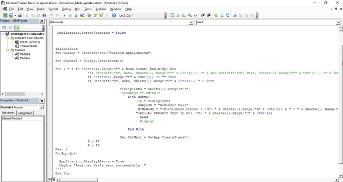 do excel and word vba coding