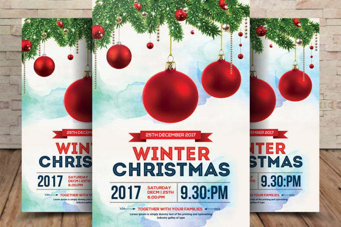 Christmas Flyer.Ikhsanbagas97 I Will Design Professional Christmas Flyer For 10 On Www Fiverr Com