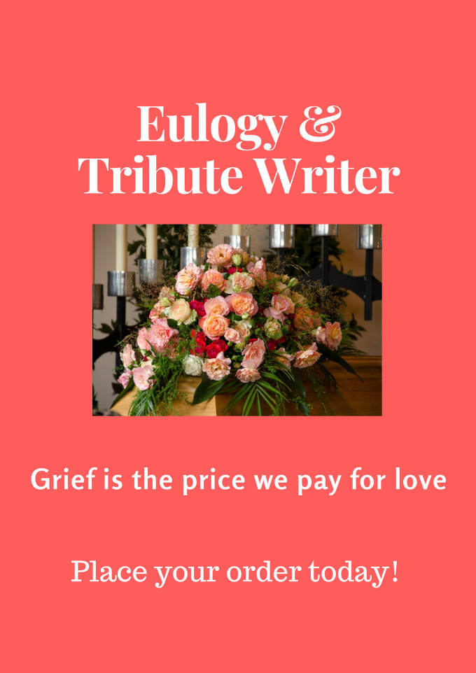 Writing a tribute to a loved one