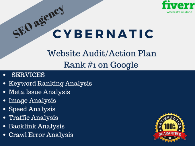 Seo site audit report action plan checklist website analysis google