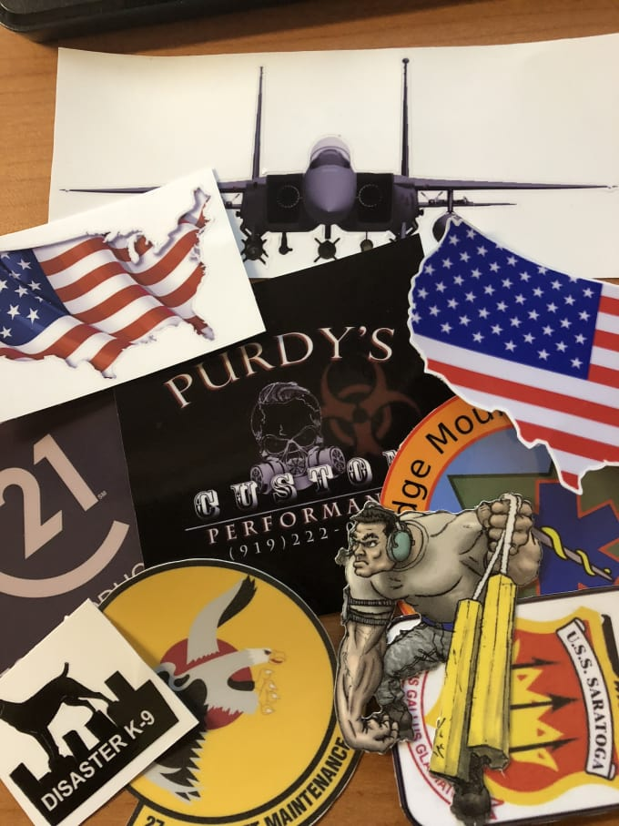 image about Printable Vinyl Stickers known as print and lower 5 large high-quality 3 inch vinyl stickers