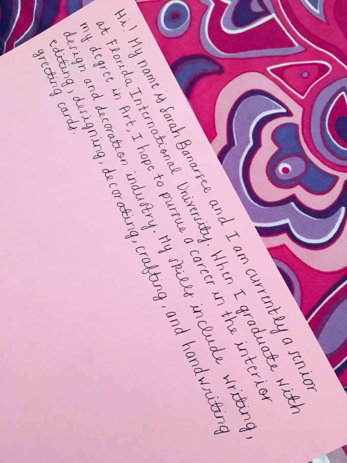 Neatly hand write a greeting card or letter by sarahbanarsee neatly hand write a greeting card or letter m4hsunfo