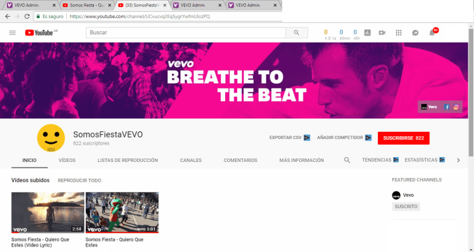 set up your vevo channel and publish your music videos