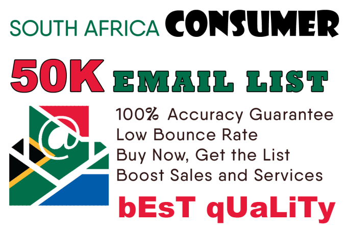 find 50k south africa consumers email list