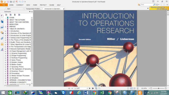 operation research network analysis problems