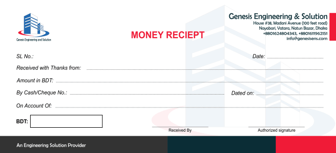 design minimal money receipt or invoice by riiiimo