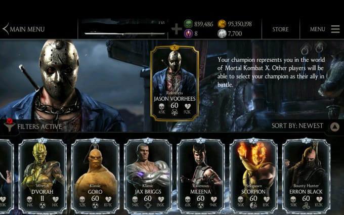 yaxir_kan : I will add any diamond character to mkx android for $30 on  www fiverr com
