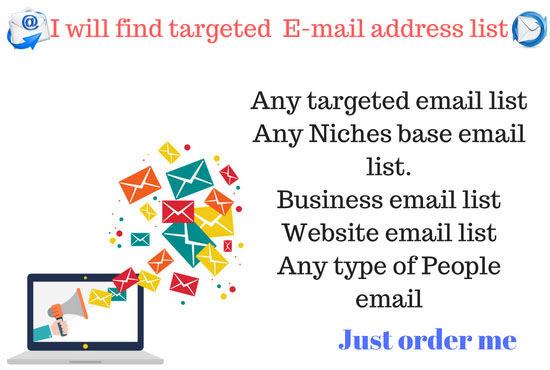 Find Targeted Email Address List Fiverr