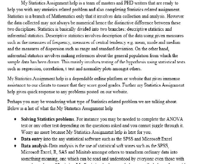 problem solving statistics