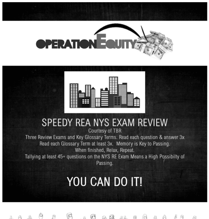 operationequity : I will help you pass your new york state real estate exam  for $30 on www fiverr com