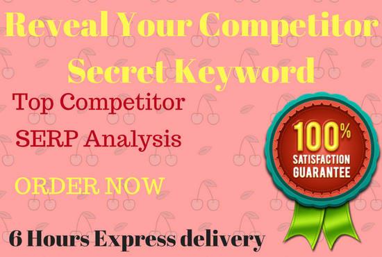 reveal secret keyword for niche website