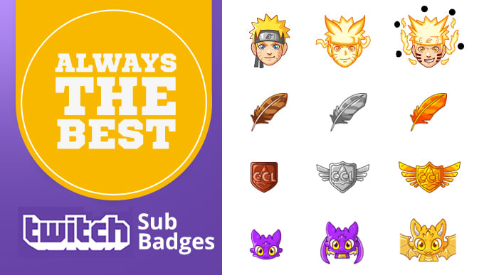 create custom sub badges for twitch subscriber badge