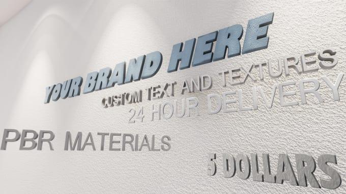 hookwaystudios : I will create a custom 3D Logo render in Unreal Engine 4  for $5 on www fiverr com