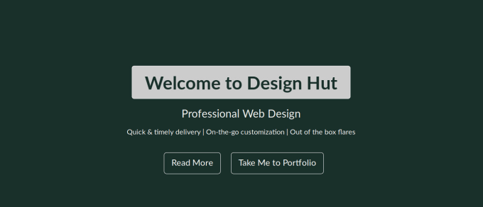 create a static website with nice design using html and css