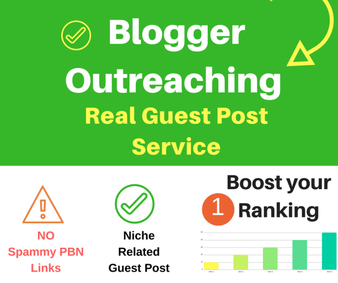 do niche related blogger outreaching for high quality guest post