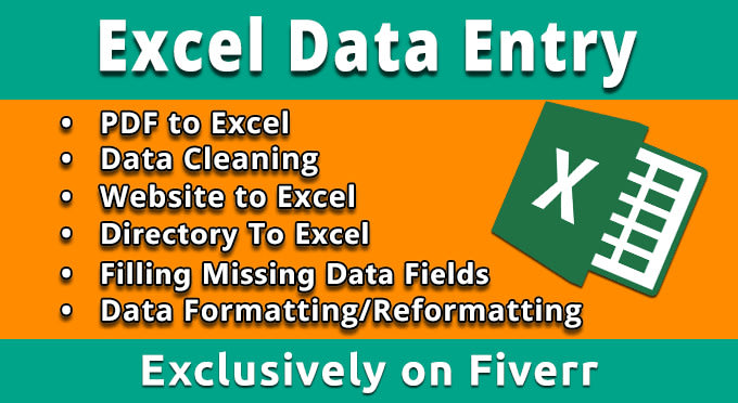 do data entry, data analysis in excel,word,data PPT