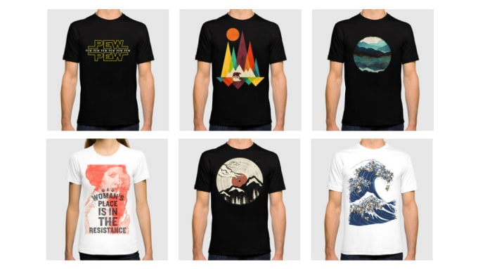 fcc86b6f I will do t shirt design,modern t shirt , professional t shirt design for  you