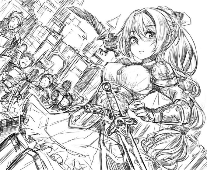 Draw Cute Loli Girls Character Whatever You Want By Mamed Pukron