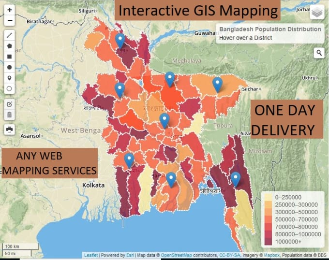 do any gis maps openlayer leaflet mapbox esri web app